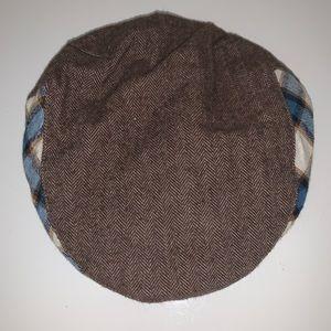 Gymboree brown plaid hat